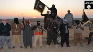 An image from an Isis propaganda video