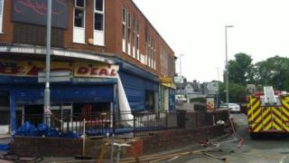 The site of the fire on Tunstall High Street