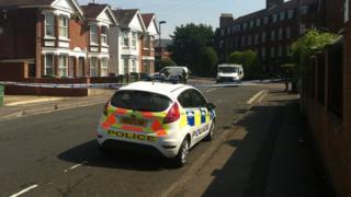 Police cordon at Morris Road