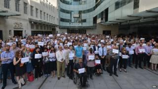 BBC protest