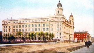 A postcard of the college, believed to date back to the early 1900s