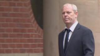 Tony Eccles arriving in court