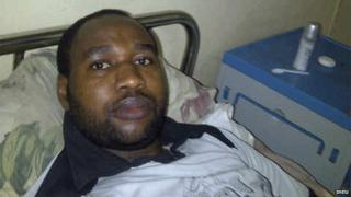 Mubarak Bala in his bed at a hospital in Kano state, Nigeria - 24 June 2014