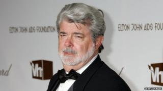 Director George Lucas appeared in Hollywood, California, on 5 March 2006