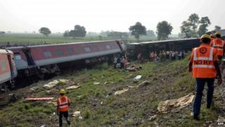 Wednesday's train accident in Bihar state killed four people