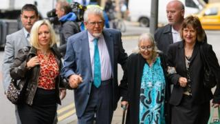 Rolf Harris and family members