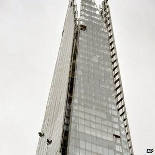 Window cleaners on The Shard
