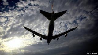 A passenger aeroplane