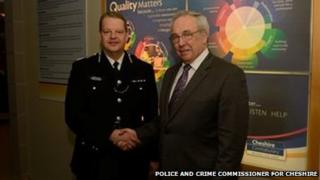 Chief Constable Simon Byrne and Police and Crime Commissioner for Cheshire John Dwyer
