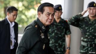 Army commander Gen Prayuth Chan-ocha in Bangkok. 13 June 2014