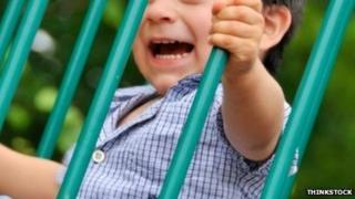Child on playground equipment. Pic: Thinkstock