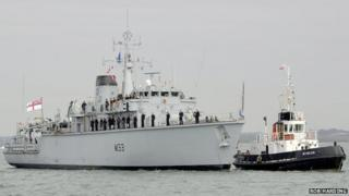 Royal Navy warship HMS Brocklesby