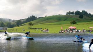 Artist's impression of Surf Snowdonia