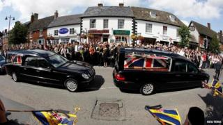 The bodies of British soldiers killed in Afghanistan are repatriated