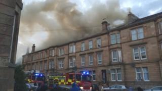 Fire crews at Maxwell Road blaze