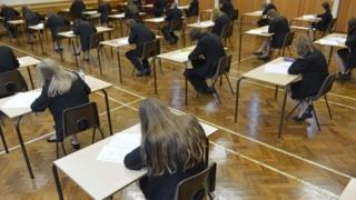 pupils sitting GCSEs