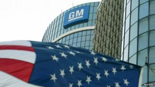 The General Motors logo is seen outside its headquarters at the Renaissance Center in Detroit, Michigan on 25 August 2009