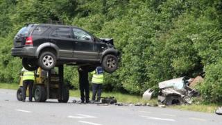 The collision involved a 4X4 vehicle and a car