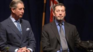 Prince Charles with David Blunkett
