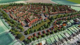 Artist impression of proposed development in Malton, North Yorkshire