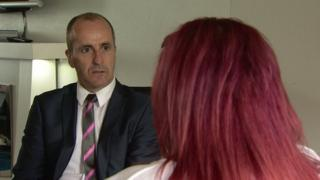 The woman told her story to BBC News NI reporter Kevin Sharkey