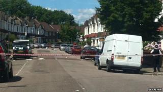 Police tape in Drayton Road