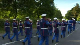 Loyalist band parade in Belfast