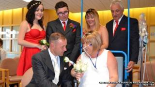 Joann Howells marrying Neil Ward