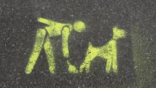 A dog mess warning sign