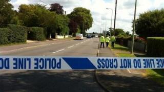 The scene of the crash on Curbridge Road in Witney