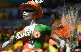 An Ivorian fan in Brasilia during the World Cup on 19 June 2014
