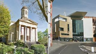 St George's and Colston Hall in Bristol