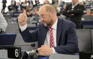 Martin Schulz in the European Parliament on 1 July