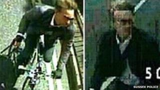 CCTV images of the cyclist