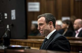 Oscar Pistorius on trial in Pretoria, South Africa, 1 July