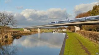 The HS2 project would cut London-Birmingham rail travel by 35 minutes, the government says