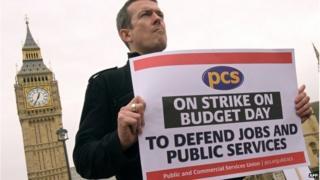 PCS member on strike