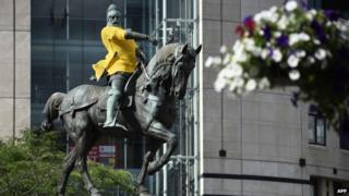 Black Prince in yellow jumper