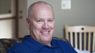 Bob Renning, 52, posed at his home in Woodbury, Minnesota 30 June 2014