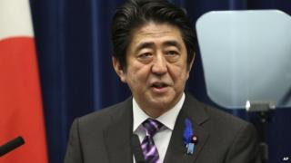 Mr Abe has said Japan must change to adapt to a new security environment