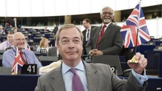 UKIP leader Nigel Farage, 2 Jul 14