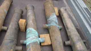 Recovered artefacts - cannons