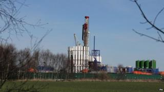 Fracking test site at Barton Moss
