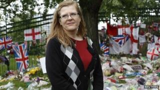Ingrid Loyau-Kennett at the scene in Woolwich