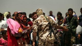 Many families have been displaced due to the ongoing fight between Iraqi forces and ISIS