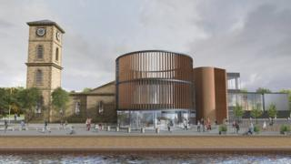 artist's impression of the new Glasgow Distillery