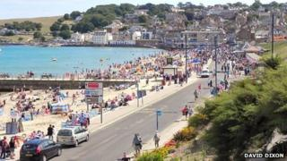 Beach and Shore Road, Swanage