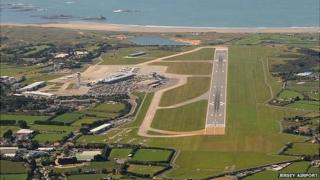 Jersey Airport seen from the air