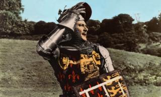 Errol Flynn as the Black Prince in the film The Dark Avenger, 1955