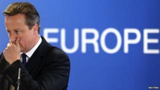 David Cameron at EU summit